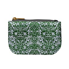 Damask2 White Marble & Green Leather (r) Mini Coin Purses by trendistuff