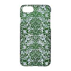 Damask2 White Marble & Green Leather (r) Apple Iphone 7 Hardshell Case by trendistuff