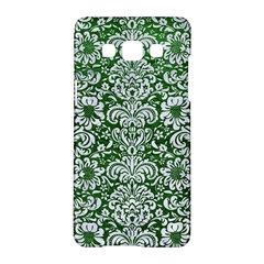 Damask2 White Marble & Green Leather Samsung Galaxy A5 Hardshell Case  by trendistuff