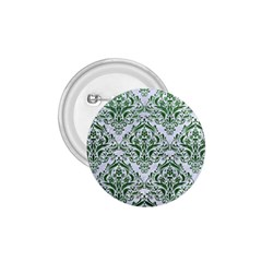 Damask1 White Marble & Green Leather (r) 1 75  Buttons by trendistuff