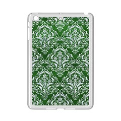 Damask1 White Marble & Green Leather Ipad Mini 2 Enamel Coated Cases by trendistuff