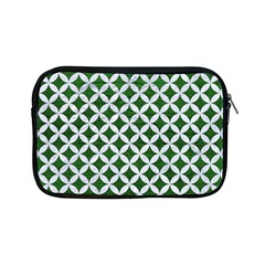 Circles3 White Marble & Green Leather Apple Ipad Mini Zipper Cases by trendistuff