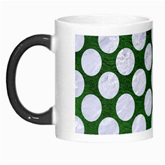 Circles2 White Marble & Green Leather Morph Mugs by trendistuff