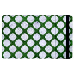 Circles2 White Marble & Green Leather Apple Ipad Pro 12 9   Flip Case by trendistuff