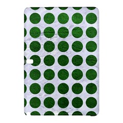 Circles1 White Marble & Green Leather (r) Samsung Galaxy Tab Pro 10 1 Hardshell Case by trendistuff