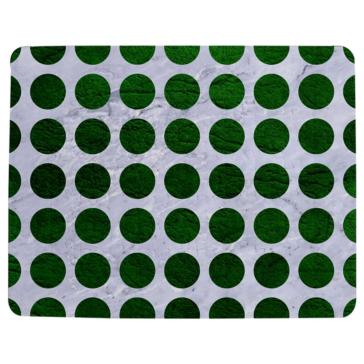 CIRCLES1 WHITE MARBLE & GREEN LEATHER (R) Jigsaw Puzzle Photo Stand (Rectangular)