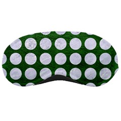 Circles1 White Marble & Green Leather Sleeping Masks by trendistuff