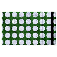 Circles1 White Marble & Green Leather Ipad Mini 4 by trendistuff