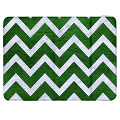 Chevron9 White Marble & Green Leather Samsung Galaxy Tab 7  P1000 Flip Case by trendistuff