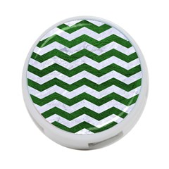 Chevron3 White Marble & Green Leather 4 Port Usb Hub (two Sides) by trendistuff