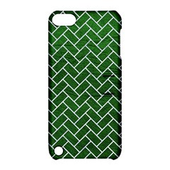 Brick2 White Marble & Green Leather Apple Ipod Touch 5 Hardshell Case With Stand by trendistuff