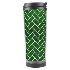 Brick2 White Marble & Green Leather Travel Tumbler by trendistuff