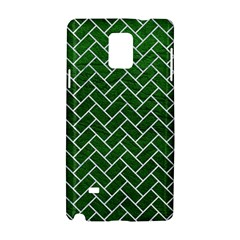 Brick2 White Marble & Green Leather Samsung Galaxy Note 4 Hardshell Case