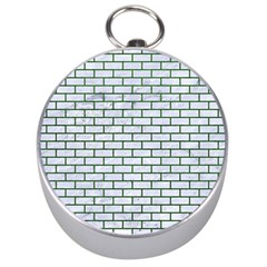 Brick1 White Marble & Green Leather (r) Silver Compasses by trendistuff