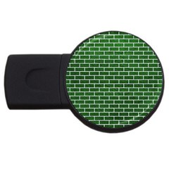 Brick1 White Marble & Green Leather Usb Flash Drive Round (2 Gb) by trendistuff