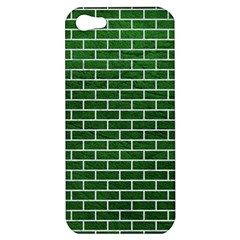Brick1 White Marble & Green Leather Apple Iphone 5 Hardshell Case by trendistuff