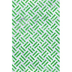Woven2 White Marble & Green Glitter (r) 5 5  X 8 5  Notebooks by trendistuff