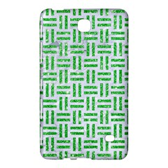 Woven1 White Marble & Green Glitter (r) Samsung Galaxy Tab 4 (7 ) Hardshell Case  by trendistuff