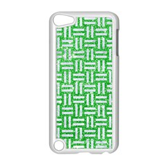 Woven1 White Marble & Green Glitter Apple Ipod Touch 5 Case (white) by trendistuff