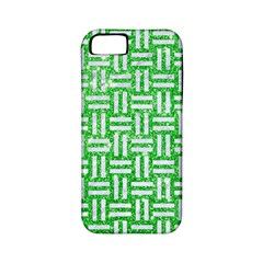 Woven1 White Marble & Green Glitter Apple Iphone 5 Classic Hardshell Case (pc+silicone) by trendistuff