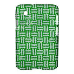 Woven1 White Marble & Green Glitter Samsung Galaxy Tab 2 (7 ) P3100 Hardshell Case  by trendistuff