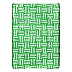 Woven1 White Marble & Green Glitter Ipad Air Hardshell Cases by trendistuff