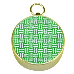 Woven1 White Marble & Green Glitter Gold Compasses by trendistuff