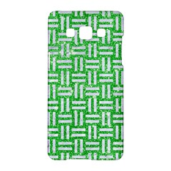 Woven1 White Marble & Green Glitter Samsung Galaxy A5 Hardshell Case  by trendistuff
