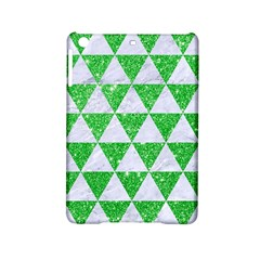 Triangle3 White Marble & Green Glitter Ipad Mini 2 Hardshell Cases by trendistuff