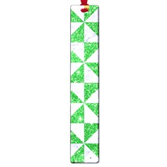 Triangle1 White Marble & Green Glitter Large Book Marks by trendistuff