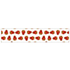Red Peppers Pattern Small Flano Scarf by SuperPatterns