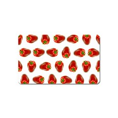 Red Peppers Pattern Magnet (name Card) by SuperPatterns