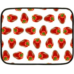 Red Peppers Pattern Fleece Blanket (mini) by SuperPatterns