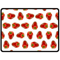 Red Peppers Pattern Fleece Blanket (large)  by SuperPatterns
