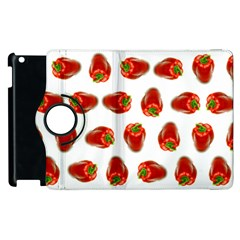 Red Peppers Pattern Apple Ipad 3/4 Flip 360 Case by SuperPatterns