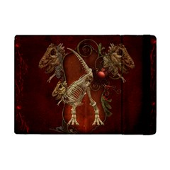 Awesome T Rex Skeleton, Vintage Background Apple Ipad Mini Flip Case by FantasyWorld7