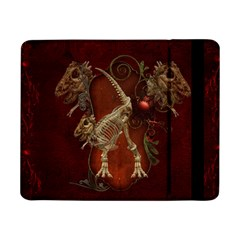Awesome T Rex Skeleton, Vintage Background Samsung Galaxy Tab Pro 8 4  Flip Case by FantasyWorld7