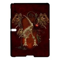 Awesome T Rex Skeleton, Vintage Background Samsung Galaxy Tab S (10 5 ) Hardshell Case  by FantasyWorld7