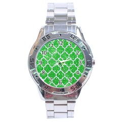 Tile1 White Marble & Green Glitter Stainless Steel Analogue Watch by trendistuff