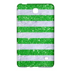Stripes2 White Marble & Green Glitter Samsung Galaxy Tab 4 (7 ) Hardshell Case  by trendistuff
