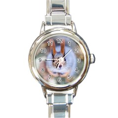 Squirrel Looks At You Round Italian Charm Watch by FunnyCow