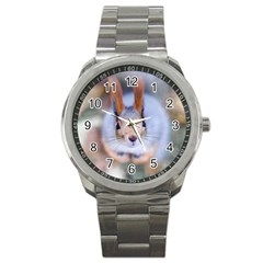 Squirrel Looks At You Sport Metal Watch by FunnyCow