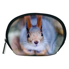 Squirrel Looks At You Accessory Pouches (medium)  by FunnyCow