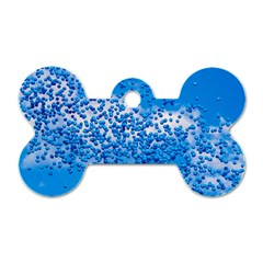 Blue Balloons In The Sky Dog Tag Bone (one Side)