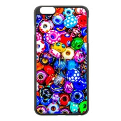 Colorful Beads Apple Iphone 6 Plus/6s Plus Black Enamel Case by FunnyCow