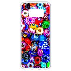 Colorful Beads Samsung Galaxy S8 White Seamless Case by FunnyCow