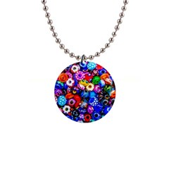 Colorful Beads Button Necklaces by FunnyCow