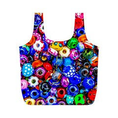 Colorful Beads Full Print Recycle Bags (m)  by FunnyCow