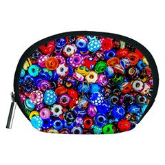 Colorful Beads Accessory Pouches (medium)  by FunnyCow