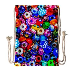 Colorful Beads Drawstring Bag (large) by FunnyCow